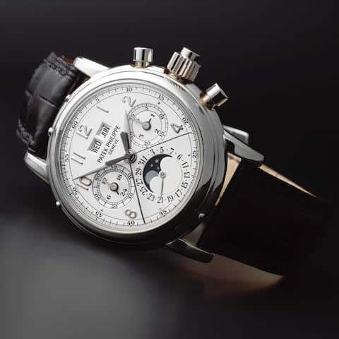 Lot 60 - Patek Philippe Ref 5004P Split Seconds Chronograph with Perpetual Calendar and Moonphases