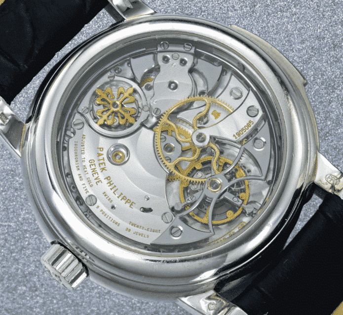 Patek Philippe A RARE PLATINUM MINUTE REPEATING PERPETUAL CALENDAR TOURBILLON WRISTWATCH WITH RETROGRADE DATE AND MOON PHASES REF 5016 MVT 1905085 CASE 4214407 MADE IN 2003