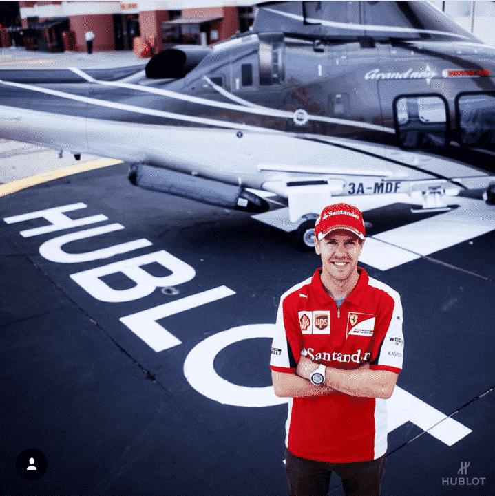 Sebastian Vettel and Hublot